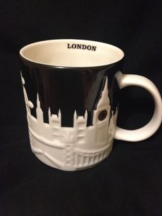 Item comes from a smoke free home. Starbucks City Relief Mug - London, England / United Kingdom. Type: Relief. City: London. Color: Black and White. | eBay!