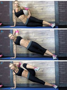 Side Plank Lift and Knee Tuck