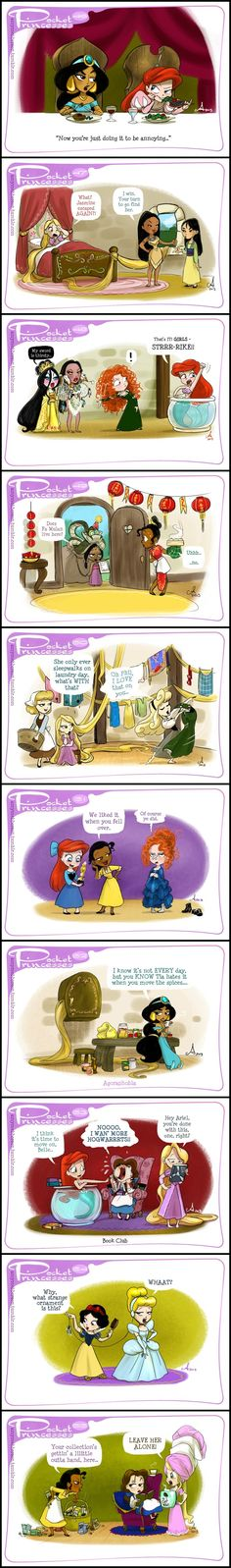 38 Ideas Funny Disney Comics Pocket Princesses Rapunzel For 2019 Disney Pixar, Walt Disney, Disney Amor, Cute Disney, Disney Girls, Disney And Dreamworks, Disney Magic, Funny Disney, Disney Princes