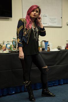 Demi Lovato Neon Lights Tour Suit