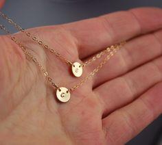 2+Initials+Necklace++Personalized+Necklace++di+GosiaMeyerJewelry,+$56.00