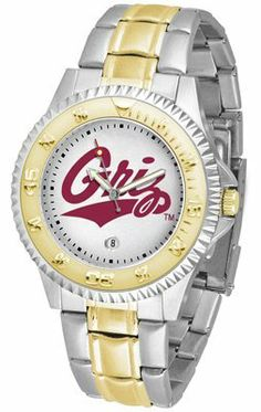 Montana Grizzlies- University Of Competitor - Two-tone Band - Men's - Men's College Watches by Sports Memorabilia. $87.08.  Men's