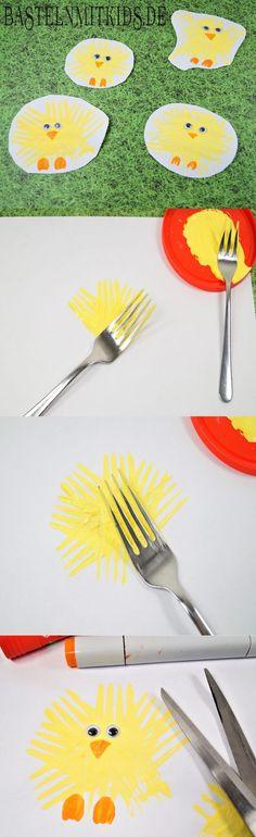 Ostern basteln. Wir basteln Küken für Ostern. Auch gut für Kleinkinder zum einfachen und schnellen Nachbasteln. Basteln mit Kindern