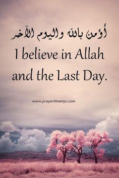 I believe in #Allah and the last day. #islamicquote  #quranlines  #quranicquotes  #islamicquote  #muslimah  #faith