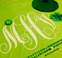 Vitamin Sea Design #stpattysday #green #blanket