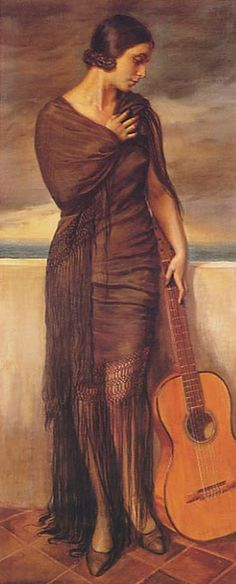 Flamenco Dancer Artwork By George Owen Wynne Apperley Oil Painting & Art Prints On Canvas For Sale Guitar Painting, Guitar Art, Figure Painting, Foto Art, Watercolor Artists, Illustrations, Andalusia, Sculpture, Art Music