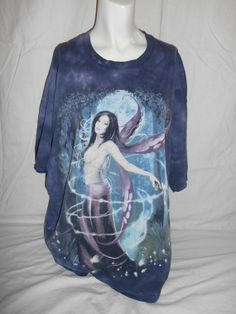 Vintage clothing Fairy tee t shirt  90s blue by ATELIERVINTAGESHOP, $42.00