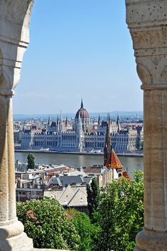 Parliament from the Fishermen's Bastion, Budapest, Hungary
