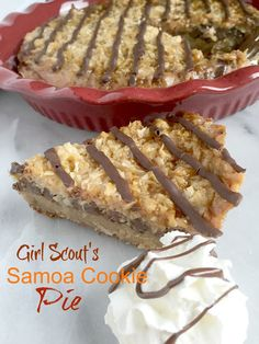 Salted Caramel Girl Scout's Samoa Cookie Pie