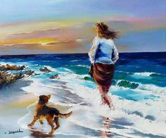 Breathtaking Oil Paintings of France by Christian Jequel Art Gallery, Seascape Paintings, Oil Paintings, French Artists, Beach Art, Bunt, Painting & Drawing, Watercolor Paintings, Pop Art