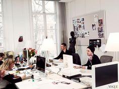 Studio Tour: Viktor & Rolf's Amsterdam Workspace – Vogue Home Office, Office Workspace, Design Studio Office, Recording Studio Home, Sewing Studio, Fashion Studio, Office Interiors, Business Fashion, Career
