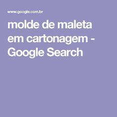 molde de maleta em cartonagem - Google Search