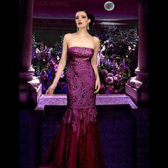 Sue Wong Victorian seutache embroidered strapless lace gown…   #teamsuewong #suewong #fashion #coutureinspired #picoftheday #glamorous #colorful