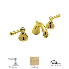 View the Rohl A2707LM-2 Verona Widespread Bathroom Faucet with Pop-Up Drain and Metal Lever Handles at FaucetDirect.com.