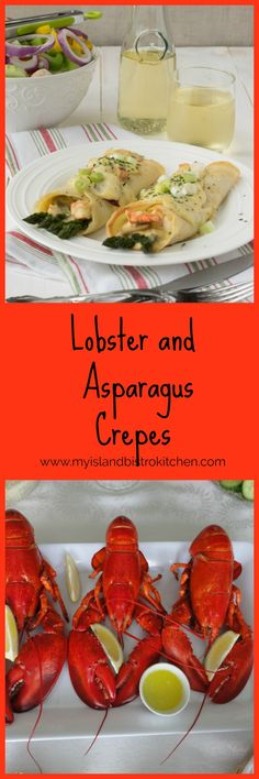 Delectable lobster and asparagus crepes combine succulent chunks of lobster with earthy asparagus and mushrooms and a rich creamy cheese sauce