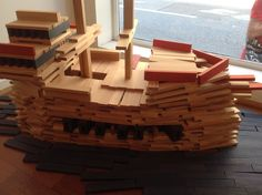 KAPLA Pirate Ship. Imagination........ have fun with it! #building blocks #gifts #holidays #parents #school
