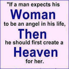 If A Man Expects His Woman