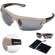 76473a8a0e Duduma Polarized Designer Fashion Sports Sunglasses for Baseball Cycling  Fishing Golf Tr62 Superlight Frame (grey