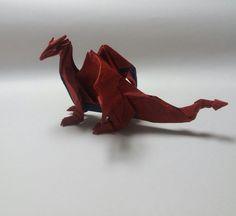 Western dragon by paper folding artist redpaper