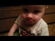 funny baby Alexander Смешной малыш покрасил язык