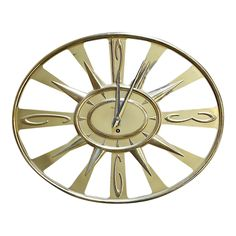 Vintage Mid 20th C. Wall Clock With Key - Image 1 of 5