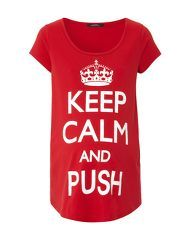 Keep Calm and Push Maternity T-shirt