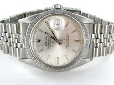 Men Rolex Datejust 1984 Stainless Steel Silver Dial 16030 36mm Wrist Watch $2,985