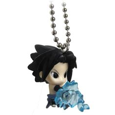 """Naruto Shippuden Swing Keychain 1"""" Sasuke with Chidori (10 CAD) ❤ liked on Polyvore featuring accessories, jewelry and fob key chain"""