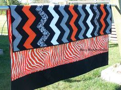 Breath of Fire Zig Zag Chevron Quilt Oversized by BusyHandsQuilts, $169.00