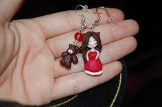 Orecchini doll e orsetto di pezza