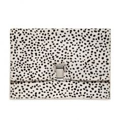 PROENZA SCHOULER SMALL LUNCH DOTS PRINT CLUTCH — www.VeryFirstTo.com