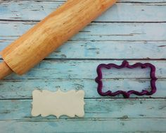 Original Plaque Cookie Cutter and Fondant by BobbisCookiesCutters