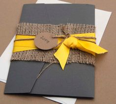 invitation yellow wedding by aimerweddings..really like this for ours.