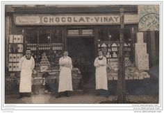 92 - ISSY LES MOULINEAUX / CARTE PHOTO D´UNE DEVANTURE D´EPICERIE Vintage Food, Vintage Recipes, Photos, Painting, Image, History, Pictures, Painting Art, Paintings