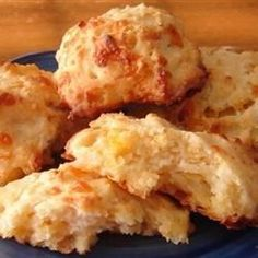 Tender cheese biscuits with a garlic butter glaze.