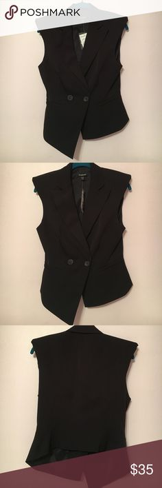 ♥️NWT♥️Bebe Suit Vest Gorgeous Bebe tuxedo vest. Extremely Flattering cut. Love this. Padding in shoulders. bebe Tops