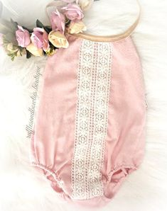 This beautiful soft pink linen is the softest material for your littles one day of play, without compromising her dearest fashion style. Adorned with delicate lace details, this vintage inspired piece #VintageKidsFashion Lace Ruffle, Lace Romper, Pink Lace, Ruffles, Boho Romper, Vintage Kids Fashion, Business Baby, Kids Winter Fashion, Kids Fashion Photography