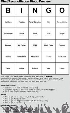 ... 901 reconciliation bingo 2nd religion religion ideas sacramental ideas