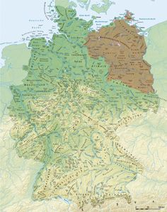 Compare this map of Slavic toponyms in East Germany with map of Germany Poland, East Germany, European History, Ancient History, Poland Facts, Ddr Brd, Vintage Maps, Fantasy Inspiration, Historical Maps