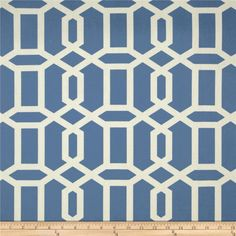 Swavelle/Mill Creek Bondi Wedgewood from @fabricdotcom  Screen printed on cotton duck; this medium weight fabric is very versatile. This fabric is perfect for window treatments (draperies, valances, curtains, and swags), bed skirts, duvet covers, pillow shams, accent pillows, tote bags, aprons, slipcovers and upholstery. Colors include ivory and blue.