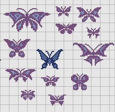 Free Butterfly Cross Stitch Patterns | Here's one I just stitched up to show how they might look...