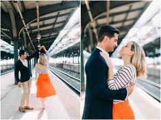 NYC wedding, nyc wedding photographers, Brooklyn NY wedding, Hoboken wedding, Train station engagement photo shoot