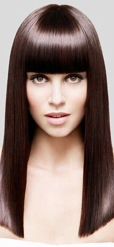 New Hair Straight Long Bangs Fransen Ideen - New Site Straight Fringes, Straight Bangs, Long Bangs, Thick Bangs, Straight Cut, Hair Color Pink, Hair Color For Black Hair, Dark Hair, Hairstyles With Bangs