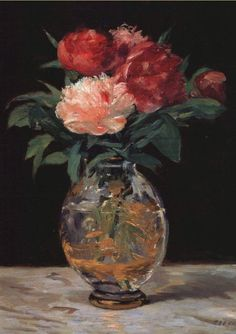 Edouard Manet Bouquet of Flowers painting, oil on canvas & frame; Edouard Manet Bouquet of Flowers is shipped worldwide, 60 days money back guarantee. Art Floral, Edouard Manet Paintings, Impressionist Art, Still Life Art, Beautiful Paintings, Flower Art, Peonies, Artsy, Artwork