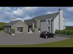 Exterior movie of our house type Bungalow Exterior, Bungalow House Plans, House Designs Ireland, Cottage Extension, Modern Farmhouse Plans, House Extensions, Home Design Plans, House Layouts, Types Of Houses
