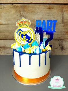 Real Madrid Drip Cake