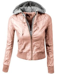 Doublju Contrast Color Hooded Crinkled Leather Biker Moto Jacket PEACH (US-S) Doublju,http://www.amazon.com/dp/B00H7PYN6I/ref=cm_sw_r_pi_dp_yy1jtb0ZY8E3YC13