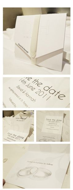 Simple and cheap wedding invites.