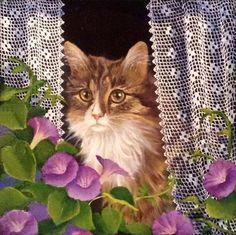Сидит кошка у окошка... Fusun Urkun. Обсуждение на LiveInternet - Российский…