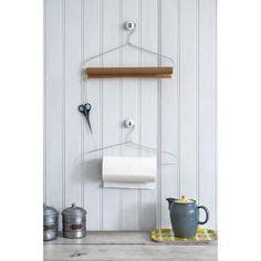Take advantage of your cloth hanger as a tissue or foil paper hanger! #diy #diyhanger #kitchen #kitchenequipment #kitchendecoration #dekorasidapur #hanger #clothhanger #dapur #perlengkapandapur #tissue